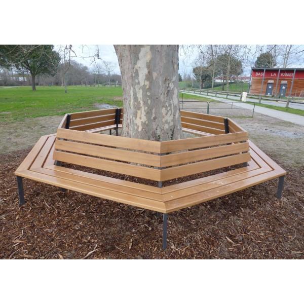 banc contour d 39 arbre banc circulaire. Black Bedroom Furniture Sets. Home Design Ideas