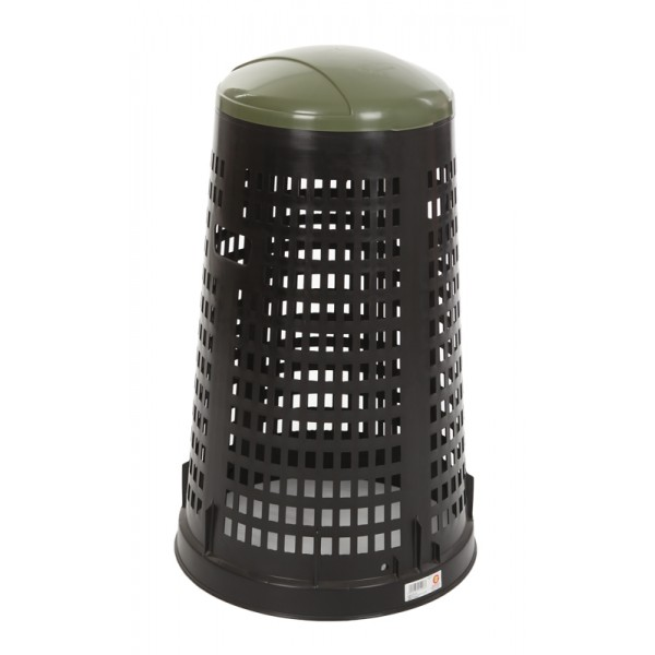 poubelle ronde en plastique perfor e 110l s3o. Black Bedroom Furniture Sets. Home Design Ideas