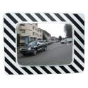 Miroir d'agglomération réglementaire Vialux 874, miroir inox, miroir de voirie, miroir de rue, miroir de sortie véhicule