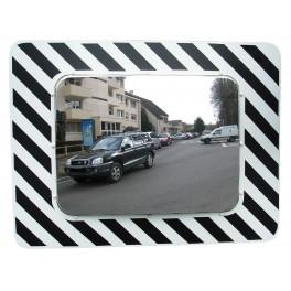 Miroir d'agglomération réglementaire 600x400 inox