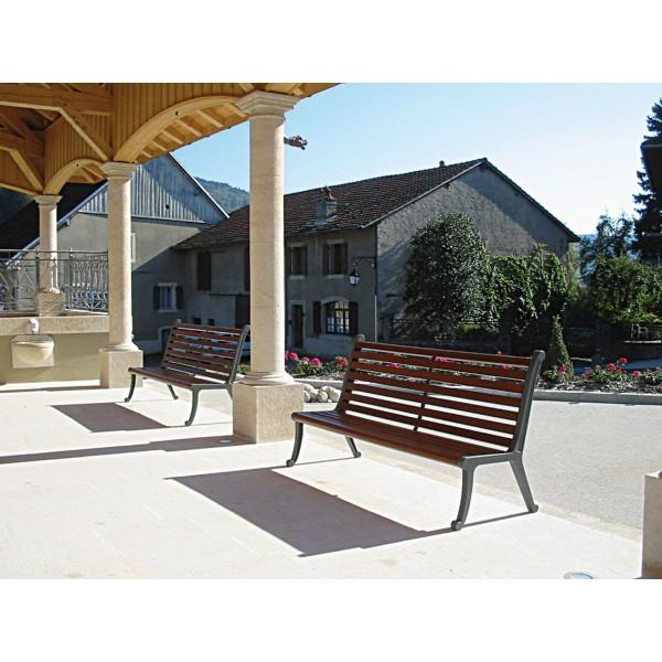 banc public ext rieur bois lofoten mobilier urbain banc. Black Bedroom Furniture Sets. Home Design Ideas