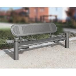 Banc ext rieur public m tal estoril mobilier urbain banc de ville acier procity - Banc metallique exterieur ...