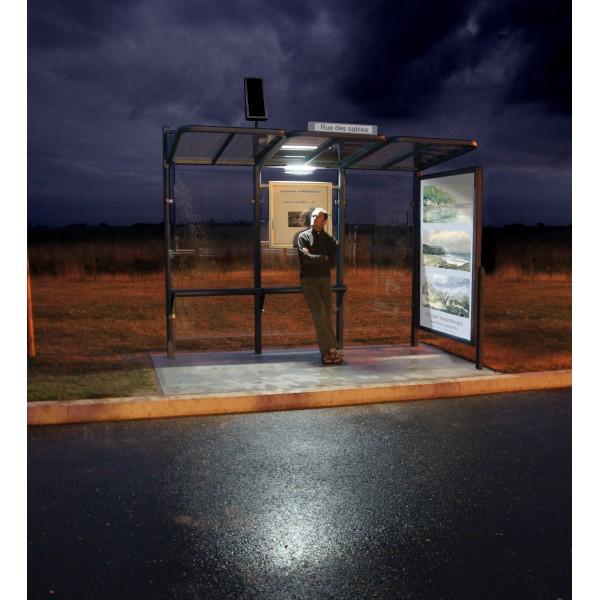 eclairage led aliment par panneau photovolta que pour arr t de bus s3o. Black Bedroom Furniture Sets. Home Design Ideas