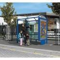 Station de bus Porquerolles 2500 avec caisson d'information