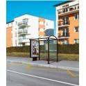 Station de bus Port-cros 2500 caisson d'info et bardage