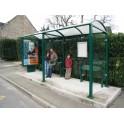 Station de bus Port-cros 5000 caisson d'info et bardage