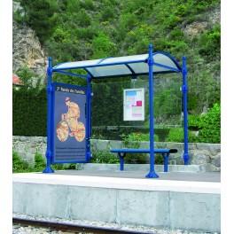 Station de bus Neste 2500 mm avec une vitrine latérale