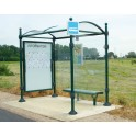 Station de bus Tarn City 2500 une vitrine + bardage latéral