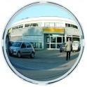 Miroir multi-usages diam.400 - 3 directions cadre blanc