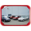 Miroir multi-usages 600x400 - 2 directions cadre rouge