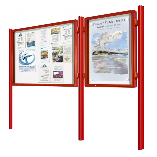 Vitrine 2000 ext rieur peint simple face porte for Exterieur 2000