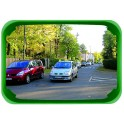 Miroir multi-usages controle 2 directions cadre vert - VIsiom P.A.S