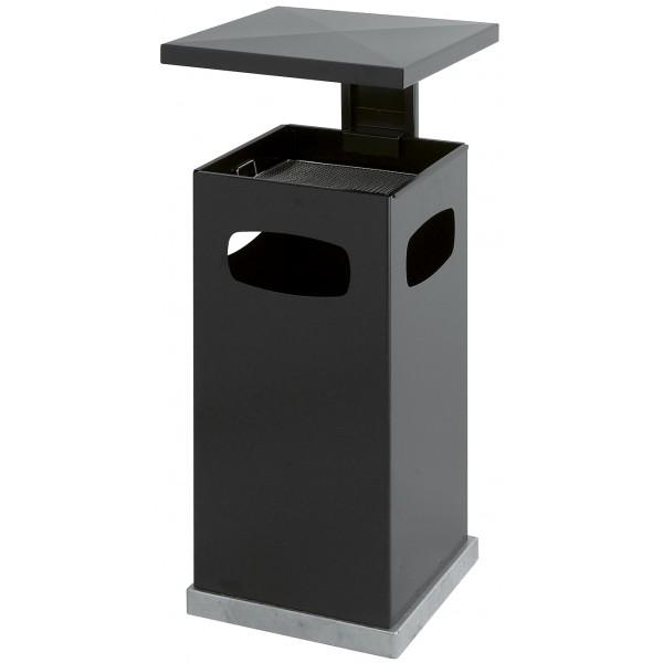 poubelle cendrier avec couvercle amovible s3o. Black Bedroom Furniture Sets. Home Design Ideas