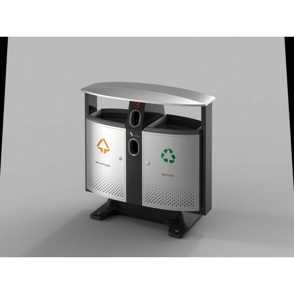 poubelle d 39 ext rieur tri selectif cendrier et collecteur. Black Bedroom Furniture Sets. Home Design Ideas