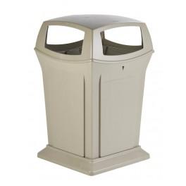 conteneur 4 ouverture poubelle de rue grande contenance corbeille de ville grand format. Black Bedroom Furniture Sets. Home Design Ideas