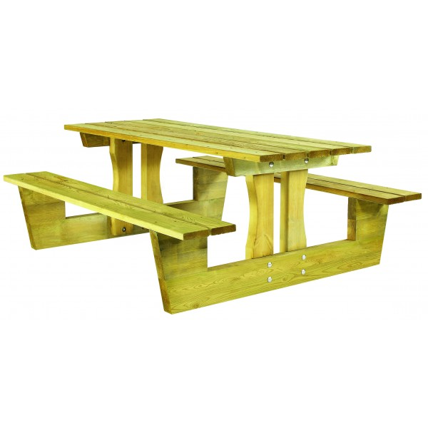 table pique nique bois lorient s3o. Black Bedroom Furniture Sets. Home Design Ideas