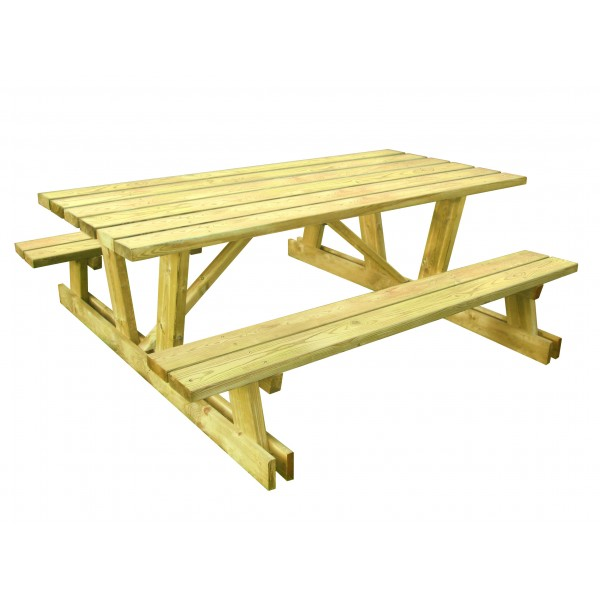 Table banc bois ext rieur collectivit Table banc bois exterieur