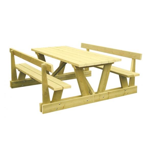 table banc bois ext rieur collectivit. Black Bedroom Furniture Sets. Home Design Ideas