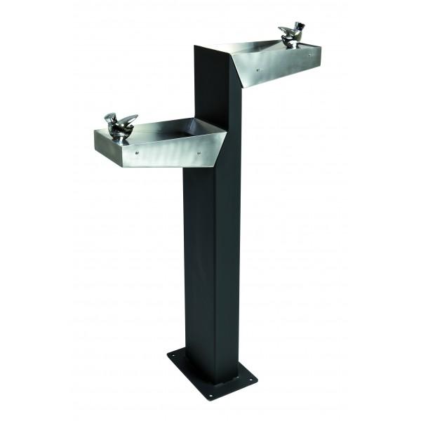 fontaine eau urbaine pour parc avec double robinet arr t. Black Bedroom Furniture Sets. Home Design Ideas