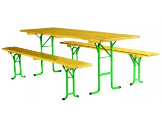 Ensemble table et banc