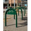 Support cycles trombone peint