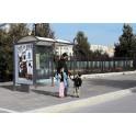 abris bus Lot City 5000 avec caisson sur pied central