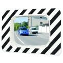 Miroir réglementaire d'agglomération routière, miroir de voirie, miroir de rue, miroir de sortie voiture,