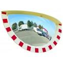 Miroir 3 directions 800x400 Vialux 9180 cadre rouge et blanc