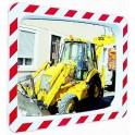 Miroir d'agglomération règlementaire 600x400 Vialux 574 cadre noir et blanc